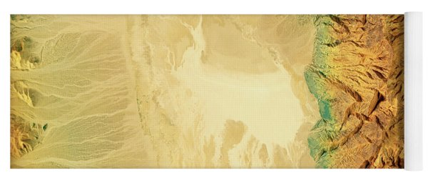 Badwater Death Valley 3d Render Topographic Map Color Yoga Mat
