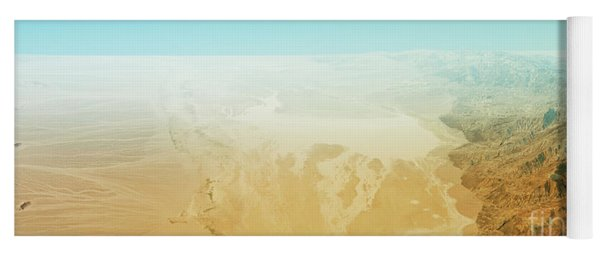 Badwater Death Valley 3d Render Topographic Map Horizon Yoga Mat