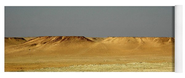 Yoga Mat featuring the photograph Baked Sahara Desert by Mark Duehmig