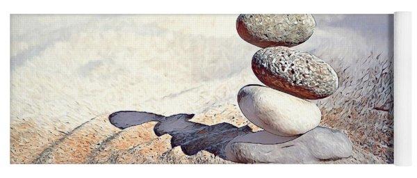 Yoga Mat featuring the digital art Balance by Pennie McCracken