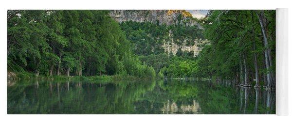 Bald Cypress Trees Along River, Frio Yoga Mat
