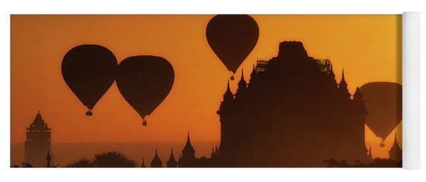 Balloons Over Began At Sunrise Yoga Mat
