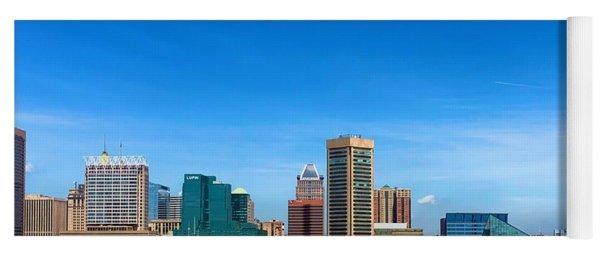 Baltimore Skyline Yoga Mat