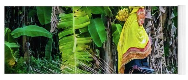 Banana Harvest, Zanzibar, Tanzania Yoga Mat