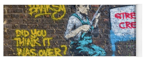 Banksy Boy Fishing Street Cred Yoga Mat