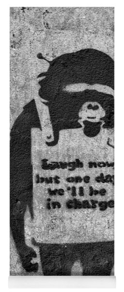 Banksy Chimp Laugh Now Graffiti Yoga Mat