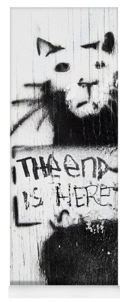 Banksy Rat The End Is Here Yoga Mat