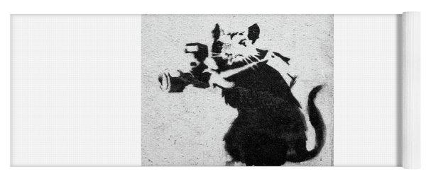 Banksy Rat With Camera Yoga Mat