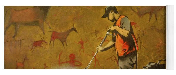 Banksy's Cave Painting Cleaner Yoga Mat