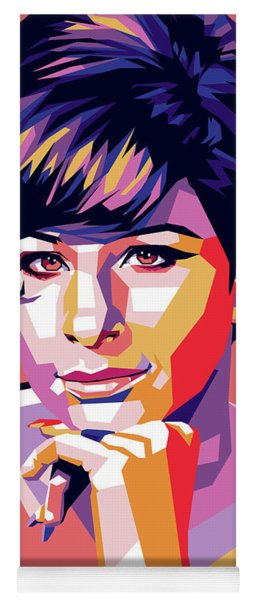Barbra Streisand Pop Art Yoga Mat