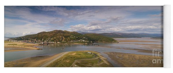 Barmouth And The Mawddach Estuary Aerial Panorama Yoga Mat
