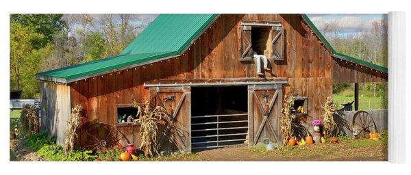Barn In Autumn Yoga Mat