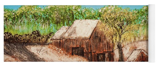 Barn On The Hill Yoga Mat