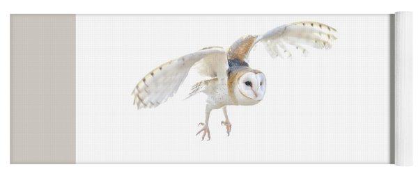 Barn Owl In Flight Yoga Mat