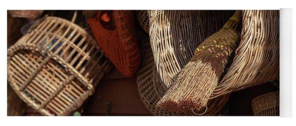 Baskets And Brooms Yoga Mat