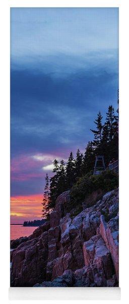 Bass Harbor Head Lighthouse At Twilight Yoga Mat