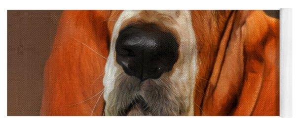 Basset Dog Portrait Yoga Mat