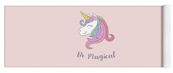 Be Magical - Baby Room Nursery Art Poster Print Yoga Mat