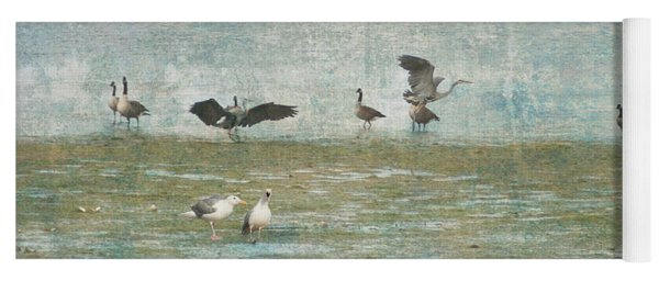 Beach And Birds Yoga Mat