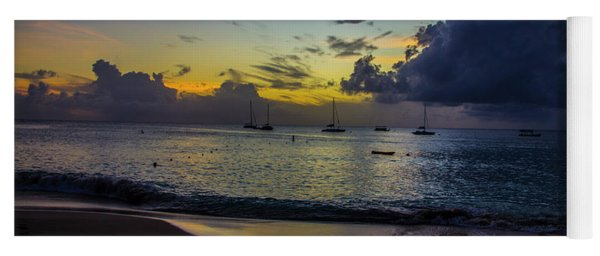 Beach At Sunset 3 Yoga Mat