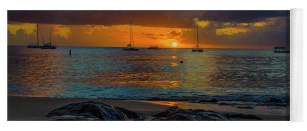 Beach At Sunset Yoga Mat