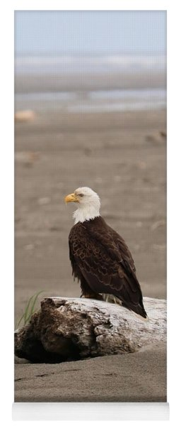 Beach Bald Eagle Yoga Mat