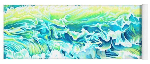 Beach Break Wave Yoga Mat