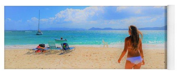 Beach Day Yoga Mat
