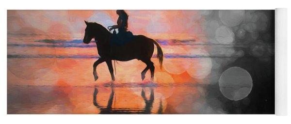 Beach Horse Bokehs Yoga Mat