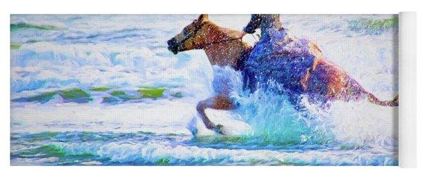 Beach Seahorse Yoga Mat