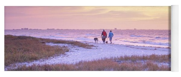 Sunrise Stroll On The Beach Yoga Mat
