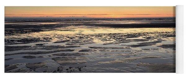 Beach Sunset, Blackpool, Uk 09/2017 Yoga Mat