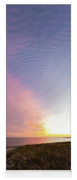 Beach Sunset West Dennis Cape Cod Yoga Mat