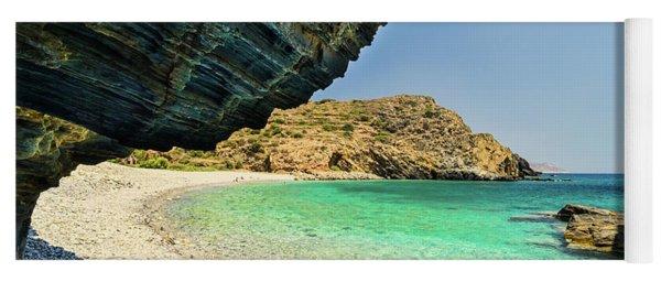 Almiro Beach With Cave Yoga Mat