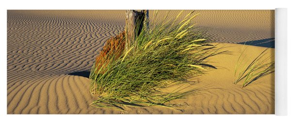 Beachgrass And Ripples Yoga Mat