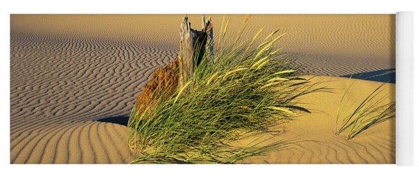 Beachgrass And Ripples Yoga Mat