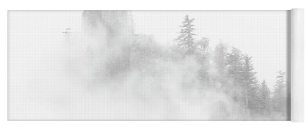 Beacon Rock In The Morning Fog Yoga Mat