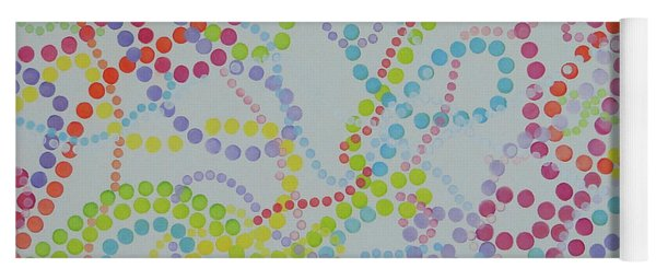 Beads And Pearls - Happy Day Yoga Mat