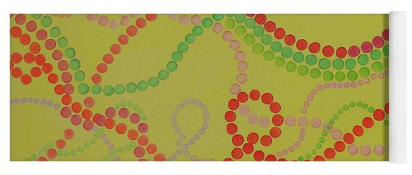 Beads And Pearls  - Happy Girl Yoga Mat
