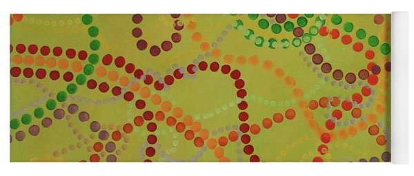 Beads And Pearls - September Yoga Mat