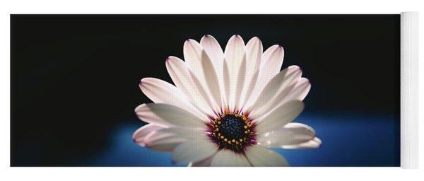 Beautiful And Delicate White Female Flower Dark Background Illum Yoga Mat