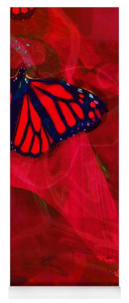 Beautiful And Fragile In Red Yoga Mat