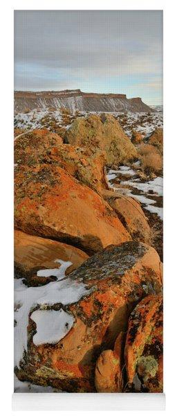 Beautiful Boulders At The Book Cliffs Yoga Mat