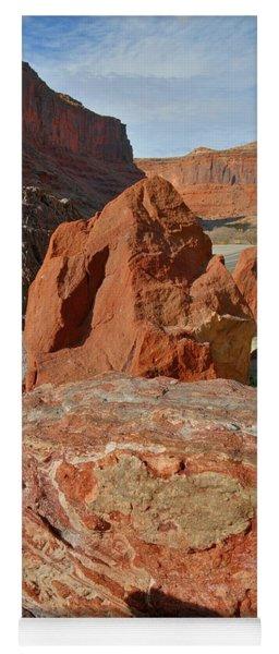 Beautiful Boulders Roadside On Highway 128 In Urah Yoga Mat