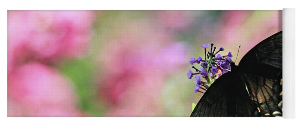 Yoga Mat featuring the photograph Beautiful Butterfly by Trina Ansel