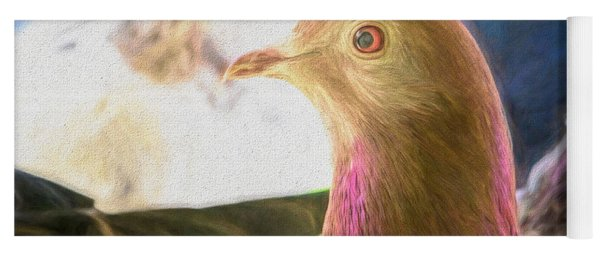 Beautiful Homing Pigeon Painted Yoga Mat