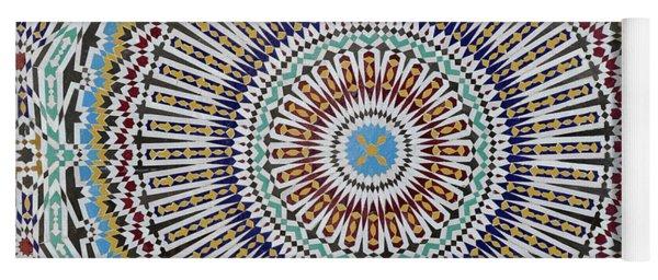 Beautiful Infinity Desgn Mosaic Fountain Yoga Mat