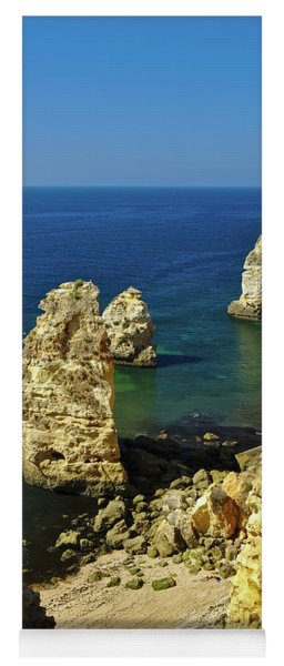 Beautiful Marinha Beach From The Cliffs Yoga Mat