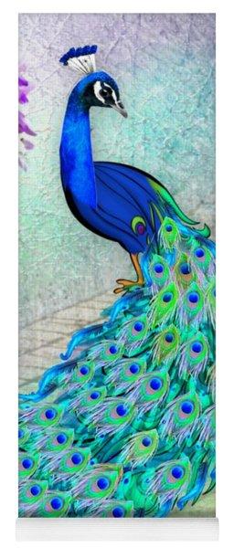 Beautiful Peacock Yoga Mat