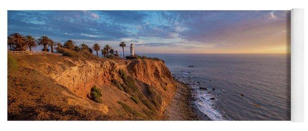 Beautiful Point Vicente Lighthouse At Sunset Yoga Mat
